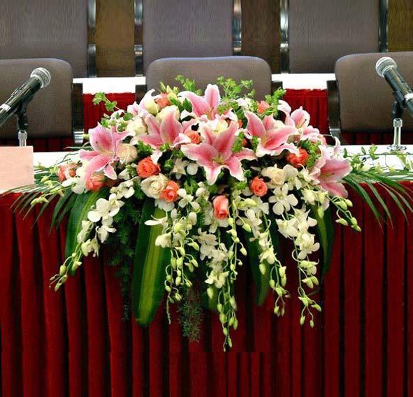 商务会议鲜花